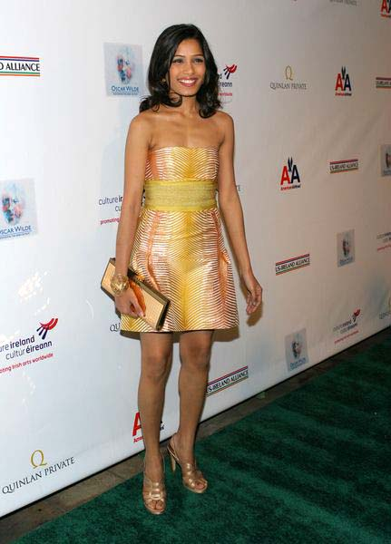 Freida Pinto at 4th Annual 'Oscar Wilde: Honoring the Irish in Film' Awards - The Ebell Club, Los Angeles, CA, USA