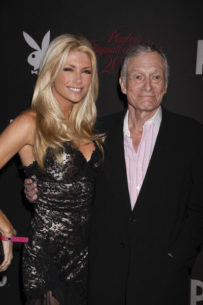 Brande Roderick, Hugh Hefner at 50th Annual Playboy Playmate of the Year Announcement and Celebration - Palms Hotel and Casino, Las Vegas, NV, USA