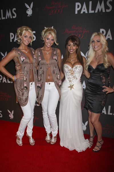 Karissa Shannon, Kristina Shannon, Ida Ljungqvist, Crystal Harris at 50th Annual Playboy Playmate of the Year Announcement and Celebration - Palms Hotel and Casino, Las Vegas, NV, USA