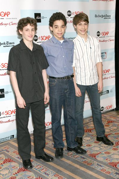 Trent Kowalik, David Alvarez, Kiril Kulish at 5th Annual ABC and SOAPnet Salute Broadway Cares/Equity Fights AIDS Benefit - Marriott Marquis, 1535 Broadway, New York City, NY, USA