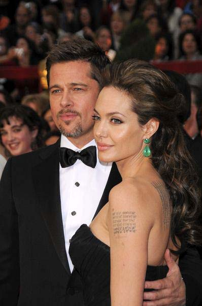Brad Pitt, Angelina Jolie at 81st Annual Academy Awards Oscars - Arrivals at The Kodak Theatre, Hollywood, CA, USA