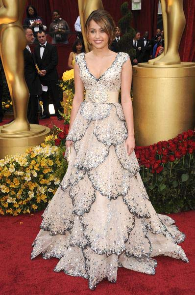 Miley Cyrus at 81st Annual Academy Awards Oscars - Arrivals at The Kodak Theatre, Hollywood, CA, USA