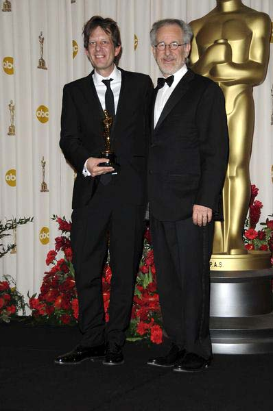 Christian Colson, Steven Spielberg (Best Picture Slumdog Millionaire) at 81st Annual Academy Awards Oscars - Press Room at The Kodak Theatre, Hollywood, CA, USA