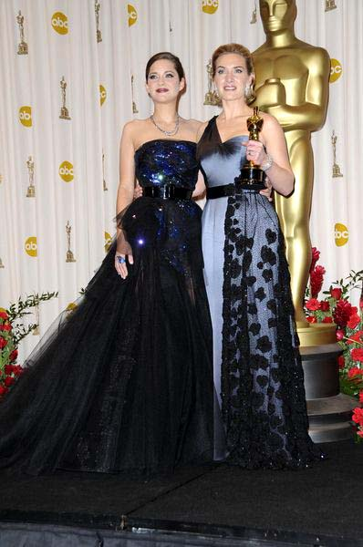 Marion Cotillard, Kate Winslet at 81st Annual Academy Awards Oscars - Press Room at The Kodak Theatre, Hollywood, CA, USA