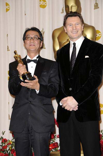 Yojiro Takita, Liam Neeson at 81st Annual Academy Awards Oscars - Press Room at The Kodak Theatre, Hollywood, CA, USA
