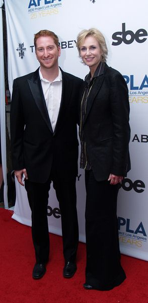 Guy Shalem, Jane Lynch at 8th Annual 'The Envelope Please' APLA Oscar Viewing Party - The Abbey, West Hollywood, CA, USA