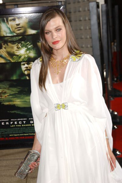 Milla Jovovich at 'A Perfect Getaway' Los Angeles Premiere at ArcLight Cinerama Dome, Hollywood, CA. USA