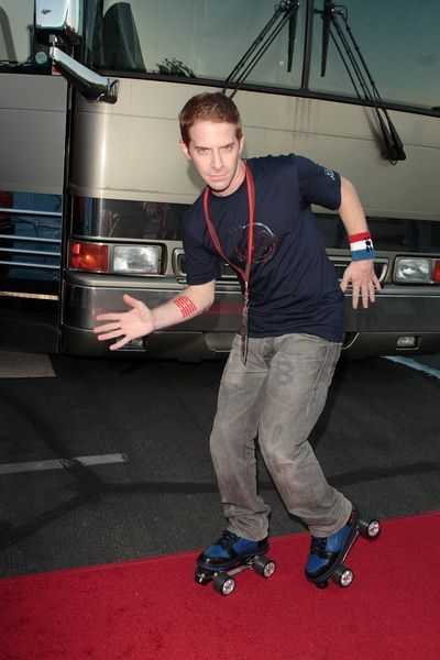 Seth Green at Adult Swim Presents: Robot Chicken Skate Party Bus Tour in Los Angeles - Skateland, Northridge, CA, USA