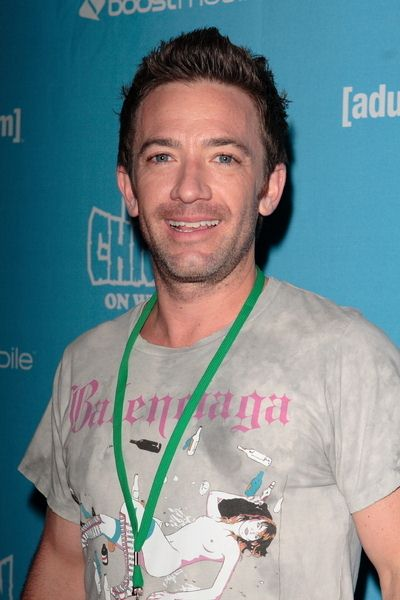David Faustino at Adult Swim Presents: Robot Chicken Skate Party Bus Tour in Los Angeles - Skateland, Northridge, CA, USA