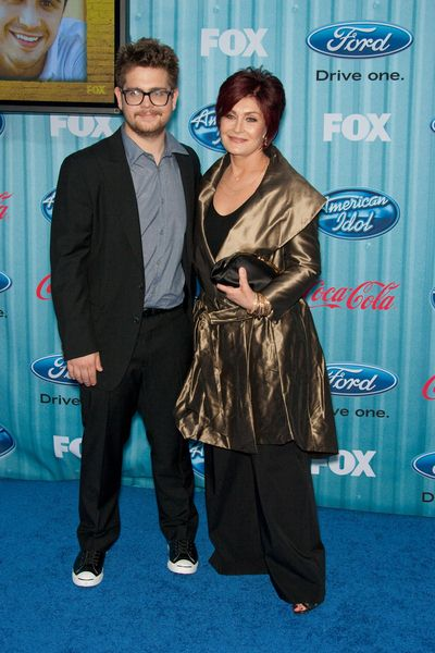Jack Osbourne, Sharon Osbourne at American Idol Top 13 Party - Area, Los Angeles, CA, USA