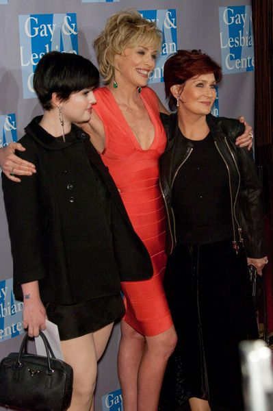 Kelly Osbourne, Sharon Stone, Sharon Osbourne at An Evening with Women: Celebrating Art, Music and Equality - Beverly Hilton Hotel, Beverly Hills, CA, USA