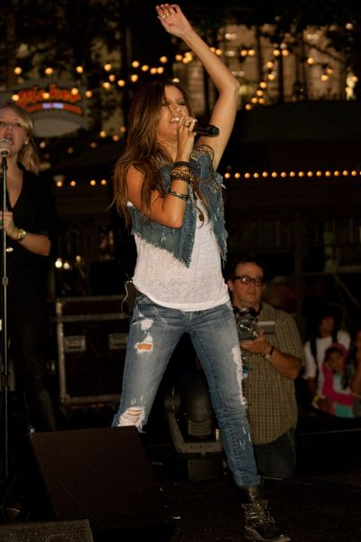 Ashley Tisdale at Ashley Tisdale 'Donate Life Summer Concert Series' at Americana at Brand in Glendale, CA, USA