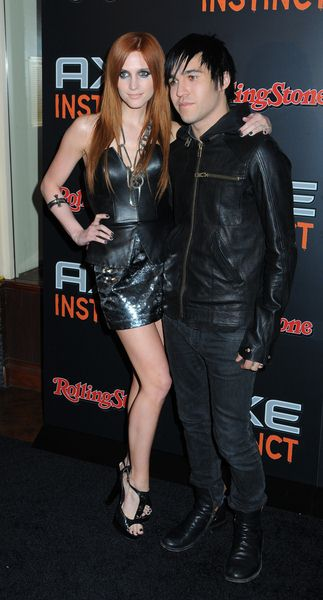 Ashlee Simpson, Pete Wentz at Axe Instinct and Rolling Stone Magazine Present 'The Power of Leather' Party - Hard Rock Live, New York City, NY, USA