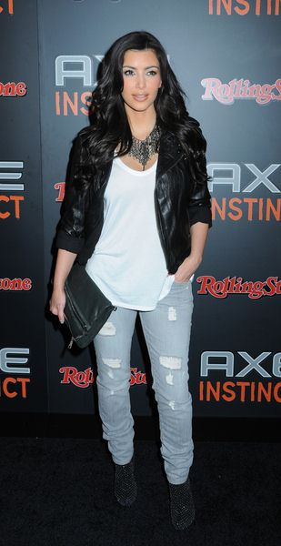Kim Kardashian at Axe Instinct and Rolling Stone Magazine Present 'The Power of Leather' Party - Hard Rock Live, New York City, NY, USA