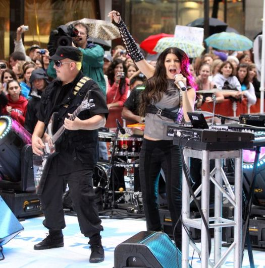 Black Eyed Peas (Fergie) at Black Eyed Peas in Concert on NBC's 'Today Show' - Rockefeller Center, New York City, NY, USA