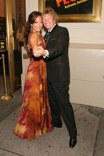 Carrie Ann Inaba, Nigel Lythgoe at 'Burn the Floor' Opening Night on Broadway - Longacre Theatre, 220 West 48th Street, New York City, NY, USA