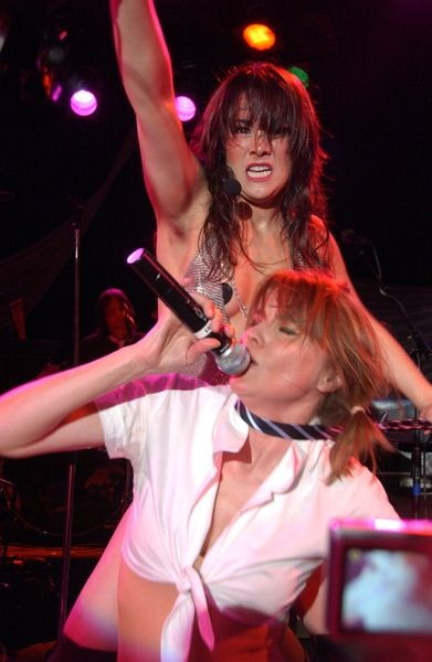 Laura Sperrazza, Lucy Lawless at Creation Entertainment Presents Lucy Lawless Live at The Roxy 'The Pleasuredome' - Roxy Theater, West Hollywood, CA. USA