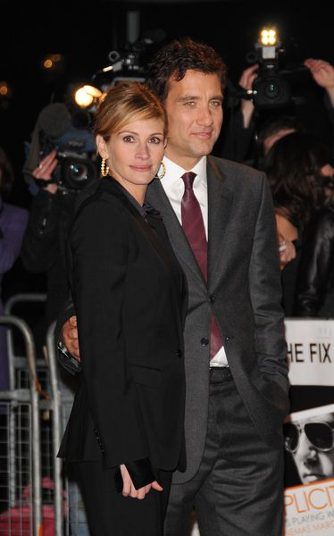 Julia Roberts, Clive Owen at 'Duplicity' London Premiere - Empire, Leicester Square, London, UK