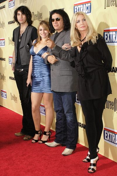 Gene Simmons, Shannon Tweed, Nick Simmons, Sophie Simmons at 'Extract' Los Angeles Premiere - Arrivals - Arclight Hollywood, Hollywood, CA, USA