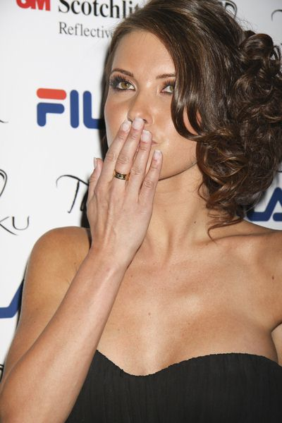 Audrina Patridge at Filas Fall 2009 Launch at The Bank Nightclub at the Bellagio Hotel and Casino, Las Vegas, NV, USA