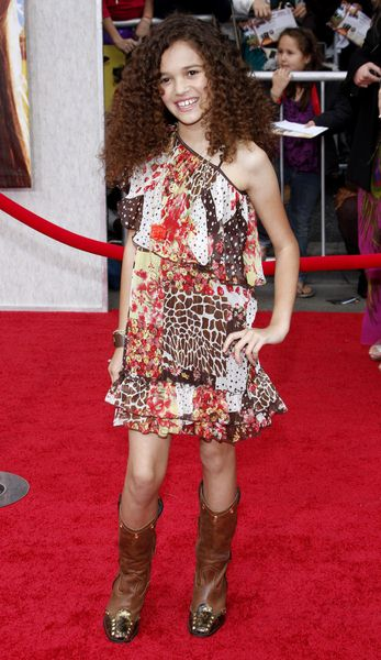 Madison Pettis at 'Hanna Montana The Movie' World Premiere - El Capitan Theatre, Hollywood, CA, USA