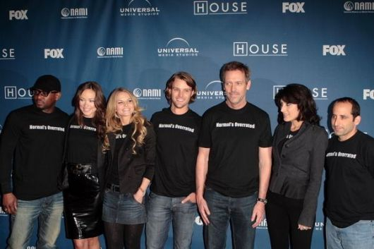 Omar Epps, Olivia Wilde, Jennifer Morrison, Jesse Spencer, Hugh Laurie, Lisa Edelstein, Peter Jacobson at 'House M.D.' 100th Episode Party and NAMI Charity Celebration - STK LA, Los Angeles, CA, USA