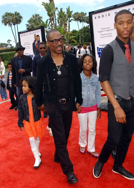 Eddie Murphy with children at 'Imagine That' Los Angeles Premiere - Paramount Pictures, Los Angeles, CA. USA
