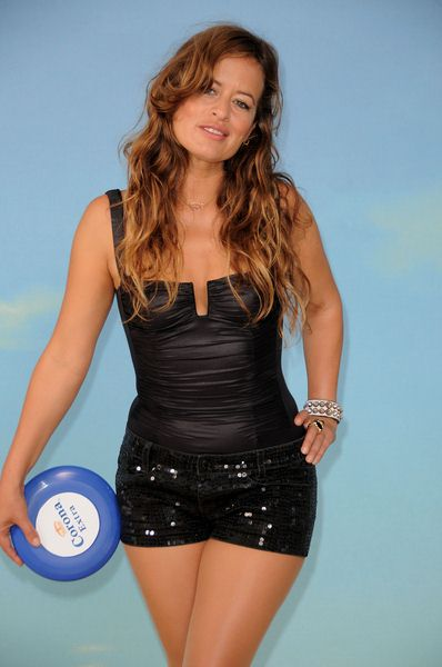 Jade Jagger at Jade Jagger 'Corona Save the Beach' - Photocall - Trafalgar Hotel ooftop, London, UK