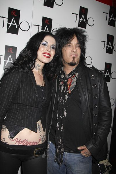 Kat Von D, Nikki Sixx at Kat Von D Celebrates the Launch of Her New Book 'High Voltage Tattoo' at Tao Nighclub Las Vegas - TAO Nightclub at the Venetian Hotel and Casino, Las Vegas, NV, USA