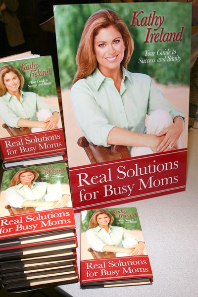Real Solutions for Busy Moms at Kathy Ireland's 'Real Solutions for Busy Moms' Book Signing at the Ridgewood Public Library in Ridgewood, NJ, USA