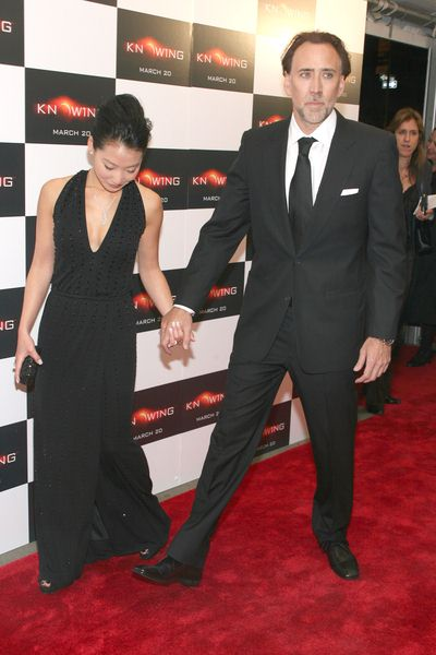 Alice Kim, Nicolas Cage at 'Knowing' New York Premiere - AMC Loews Lincoln Square, New York City, NY, USA