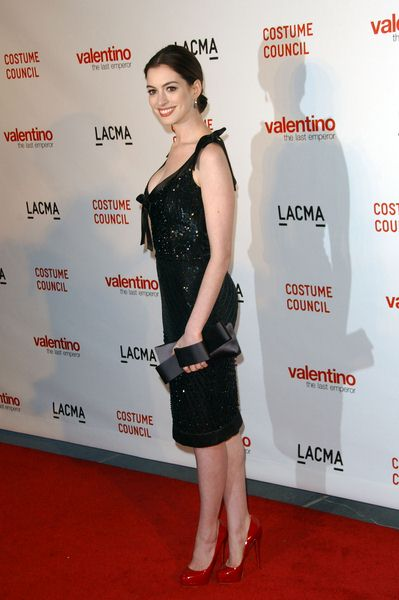 Anne Hathaway at LACMA Presents The West Coast Premiere Of 'Valentino: The Last Emperor' - Bing Theater at LACMA, Los Angeles, CA. USA