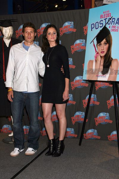 Zach Gilford, Alexis Bledel at Zach Gilford and Alexis Bledel Promote Fox Searchlight Pictures 'Post Grad' with Movie Memorabilia at Planet Hollywood, Times Square in New York City